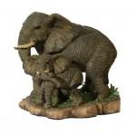 STATUETTE ELEPHANT ET SON ELEPHANTEAU
