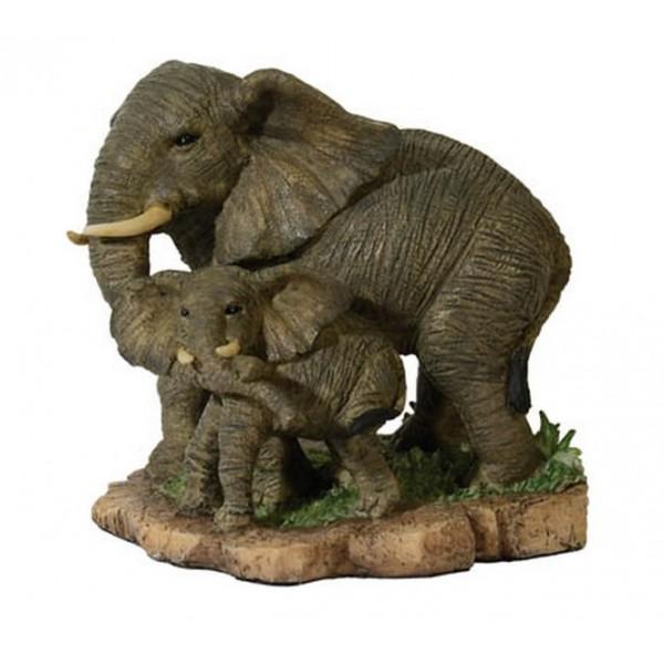 statuette elephant et son elephanteau. Black Bedroom Furniture Sets. Home Design Ideas