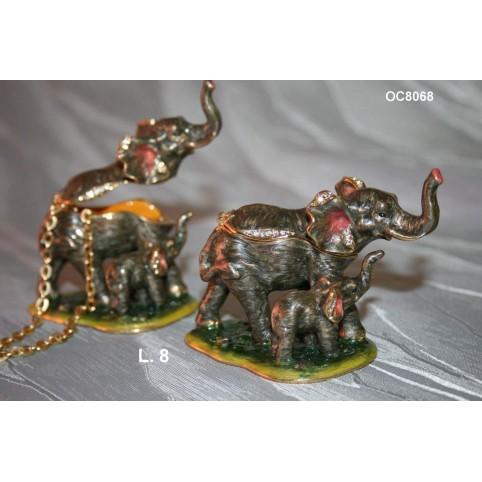 BOITE A SECRETS ELEPHANT ET SON BEBE
