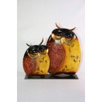 FIGURINE COUPLE DE CHOUETTE