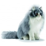 PELUCHE CHAT PERSAN ASSIS GRIS/BLANC
