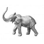 STATUETTE ELEPHANT ARGENT