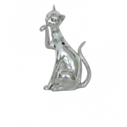 STATUETTE CHAT ASSIS ARGENTE