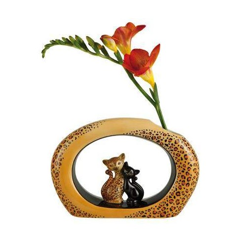 VASE LEOPARD KITTY