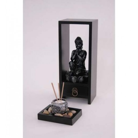 FIGURINE BOUDDHA S/SOCLE+ENCENS NIRVANA
