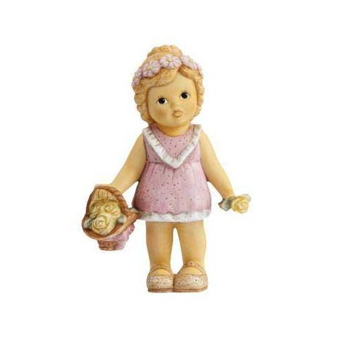 FIGURINE BOUQUETIERE ROSE