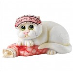 "FIGURINE CHAT ""SLEEPING BEAUTY"""
