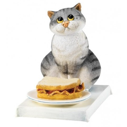 "FIGURINE CHAT ""BACON BUTTY"""
