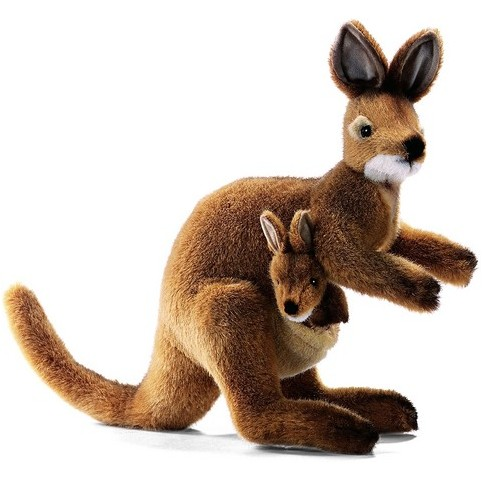 PELUCHE WALLABY AVEC SON BEBE