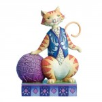 FIGURINE CHAT AVEC BALLE - HEARTWOOD CREEK