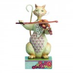 FIGURINE CHAT AVEC VIOLON - HEARTWOOD CREEK