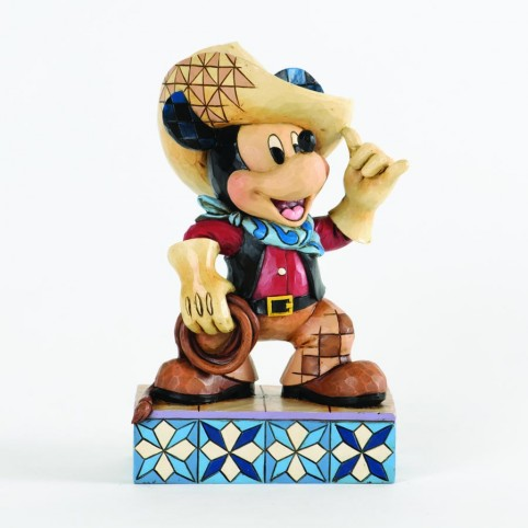FIGURINE MICKEY COW BOY