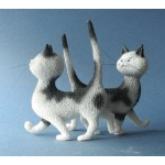 FIGURINE CHAT ZUT LA MEME ROBE