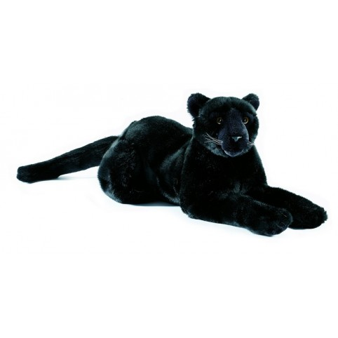PELUCHE PANTHERE NOIRE COUCHEE PM