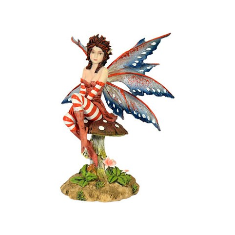 FIGURINE FEE AMY BROWN SUR CHAMPIGNON