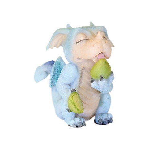 FIGURINE DRAGON RIGOLO MANGE DES FRUITS