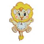 HORLOGE MURALE LION
