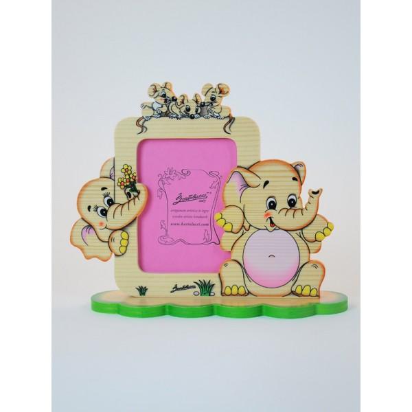 cadre photo enfant l phants magic figurines vente en. Black Bedroom Furniture Sets. Home Design Ideas