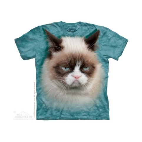 TEE SHIRT CHAT GRINCHEUX