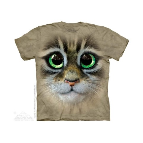 TEE SHIRT CHATON AUX YEUX VERTS