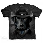 TEE SHIRT LABRADOR NOIR COW BOY