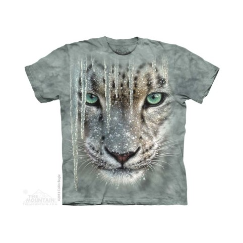 TEE SHIRT LEOPARD DES NEIGES