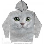 SWEAT SHIRT CHAT AUX YEUX VERTS