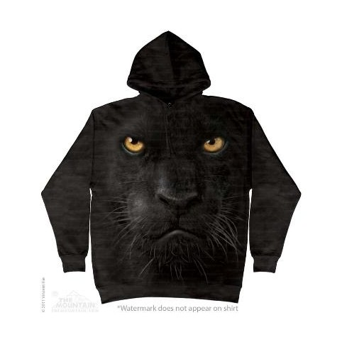 SWEAT SHIRT TETE DE PANTHERE NOIR