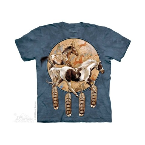 TEE SHIRT CHEVAUX INDIENS