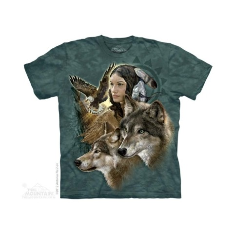 TEE SHIRT INDIENNES AVEC ANIMAUX