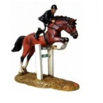FIGURINE CHEVAL D'EQUITATION