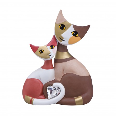 FIGURINE CHAT GRANDE FELICITA AMORE - ROSINA WACHTMEISTER