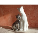 FIGURINE COUPLE DE CHATS