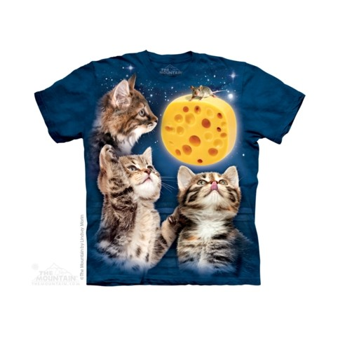 TEE SHIRT CHATONS  ET SOURIS SUR FROMAGE