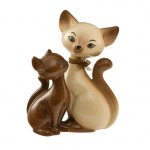 FIGURINE CHAT SIAM KITTY IN LOVE