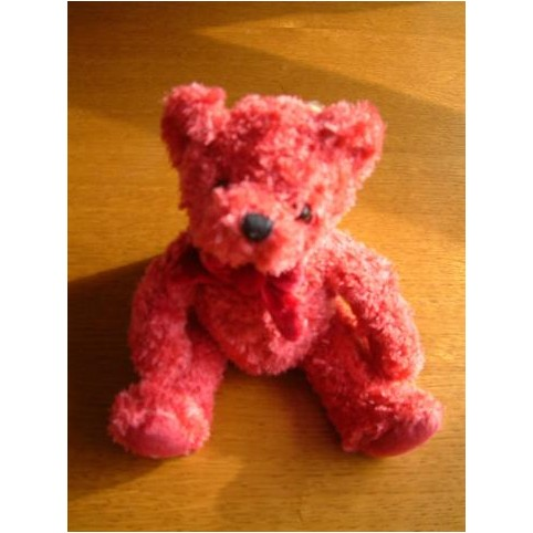 PELUCHE OURS SORBET ROUGE