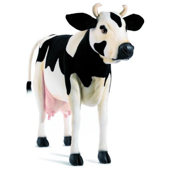 peluche vache debout noire et blanche. Black Bedroom Furniture Sets. Home Design Ideas