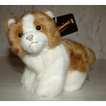 PELUCHE CHATON MARRON ET BLANC