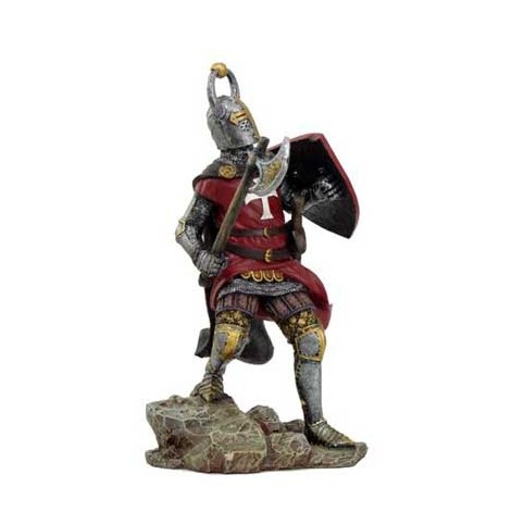 FIGURINE CHEVALIER TEMPLIER ROBE ROUGE