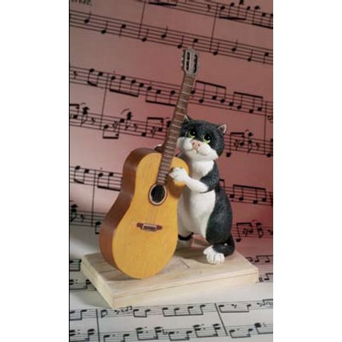 FIGURINE CHAT GUITARISTE