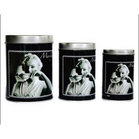 SET DE 3 BOITES RONDES METAL MARYLIN