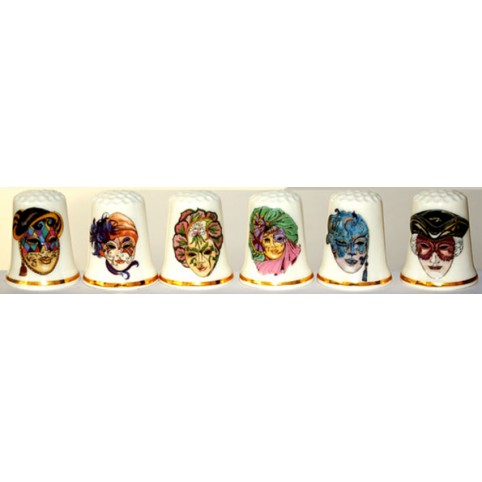 DE DE COLLECTION MASQUE VENITIEN LOT DE 6