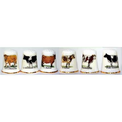 DE DE COLLECTION RACES DE VACHE LOT DE 6