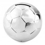 TIRELIRE BALLON FOOT ARGENT