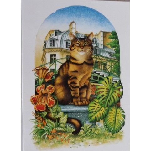 "CARTE POSTALE CHAT ""LE PARIGOT"""