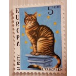"CARTE POSTALE CHAT ""L'EUROPEEN"""