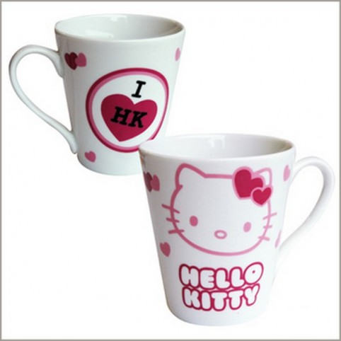 MUG CONIQUE COEURS HELLO KITTY