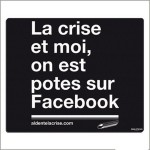 TAPIS DE SOURIS NOIR LA CRISE POTES SUR FACEBOOK