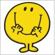 TAPIS DE SOURIS DECOUPE MR HAPPY JAUNE