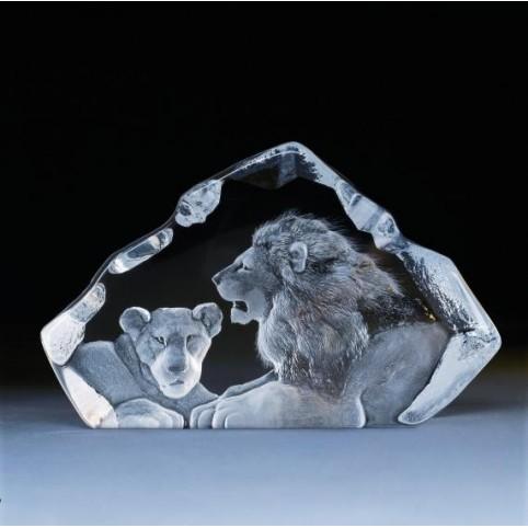 FIGURINE CRISTAL LIONS MATS JONASSON